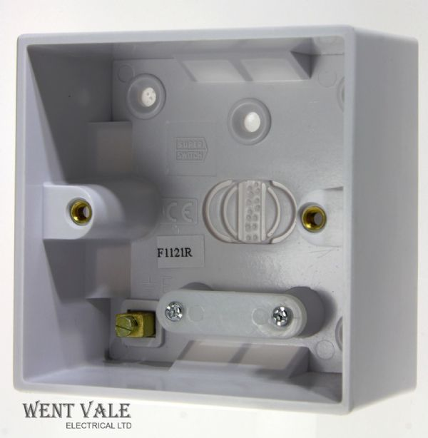 Super Switch - Value Range - SW79 - Surface Mounted 1 Gang 47mm Deep Moulded Box New